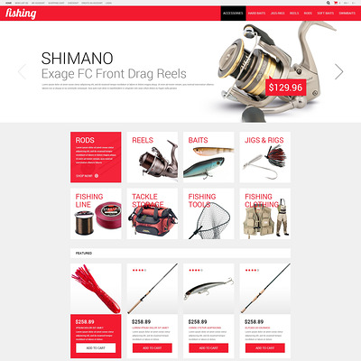 Fishing Shop OpenCart Template (OpenCart theme for marine, yachting, fishing, and diving stores) Item Picture