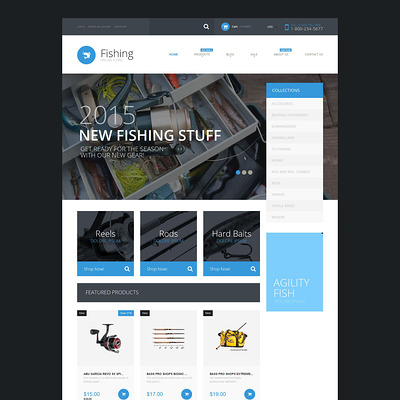 Fishing Supplies Shopify Theme (parallax Shopify theme) Item Picture