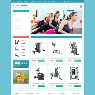 Fitness for Life OpenCart Template (OpenCart theme for sports, gym, and fitness stores) Item Picture
