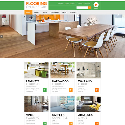 Flooring Services WooCommerce Theme (WooCommerce theme for home improvement and construction supplies) Item Picture