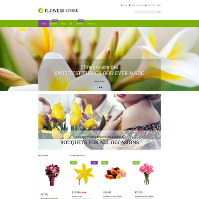 Flower Shop Responsive Shopify Theme (parallax Shopify theme) Item Picture