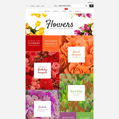 Flower Shop WooCommerce Theme (WooCommerce theme for florists and gift stores) Item Picture