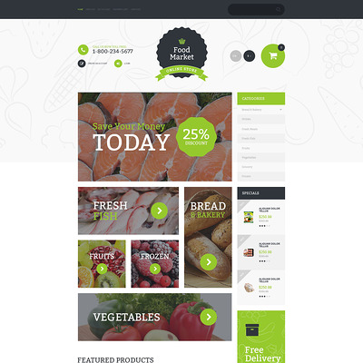 Food Market OpenCart Template (OpenCart theme for selling food and spices) Item Picture