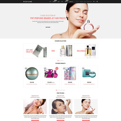 Fragrance Store Shopify Theme (parallax Shopify theme) Item Picture