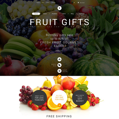 Fruit Gifts WooCommerce Theme (WooCommerce theme for florists and gift stores) Item Picture