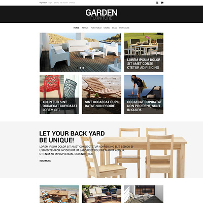 Furniture Responsive WooCommerce Theme (WooCommerce theme for furniture stores) Item Picture