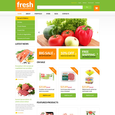 Grocery Web Shop WooCommerce Theme (WooCommerce theme for selling food and spices) Item Picture