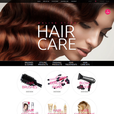 Hair Care OpenCart Template (OpenCart theme for selling cosmetics, hair products, and perfumes) Item Picture