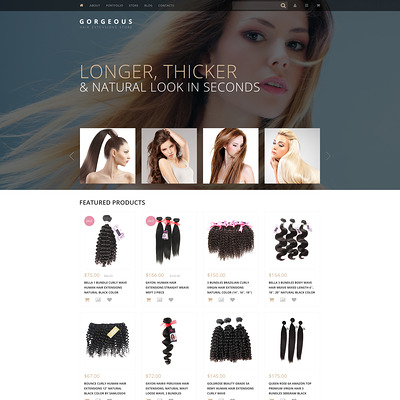 Hair Extensions WooCommerce Theme (WooCommerce theme for selling perfumes, hair products, and cosmetics) Item Picture