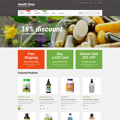 Health Shop WooCommerce Theme (WooCommerce theme for health and medical stores) Item Picture