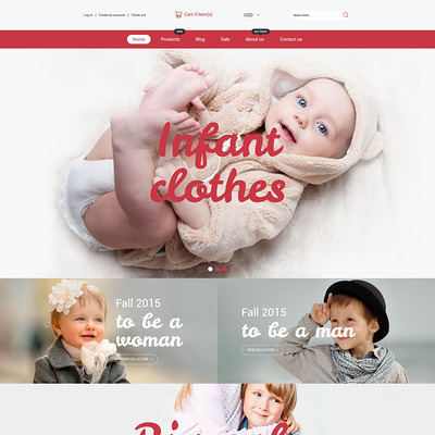Infant Clothing Store Shopify Theme (parallax Shopify theme) Item Picture