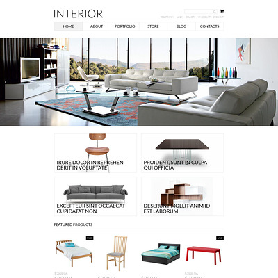 Interior Furniture WooCommerce Theme (WooCommerce theme for furniture stores) Item Picture