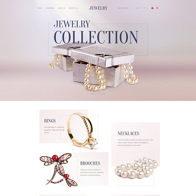 Jewelry Collection (OpenCart theme for selling jewelry and watches) Item Picture