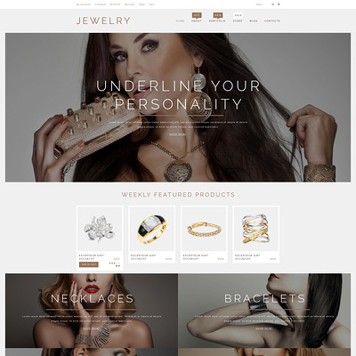 Jewelry Products WooCommerce Theme (WooCommerce theme for selling jewelry and watches) Item Picture