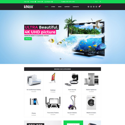 Knox WooCommerce Theme (WooCommerce theme selling electronics) Item Picture