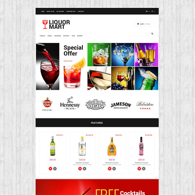 Liquor Mart OpenCart Template (OpenCart theme for selling liquor, wine, and beer) Item Picture