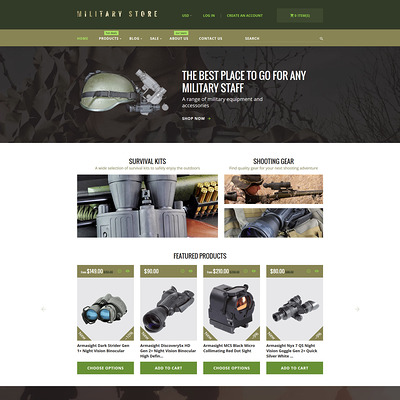 Military Shopify Theme (parallax Shopify theme) Item Picture