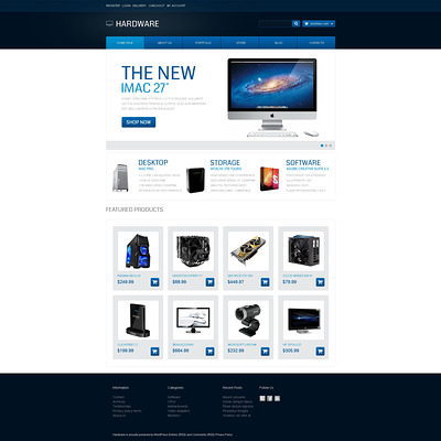 Modern Hardware WooCommerce Theme (WooCommerce theme selling computers and computer hardware) Item Picture