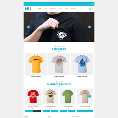 NU T-Shirts WooCommerce Theme (WooCommerce theme for selling clothing for men and women) Item Picture