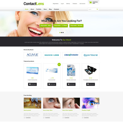 Optometrist's Responsive WooCommerce Theme (WooCommerce theme for health and medical stores) Item Picture