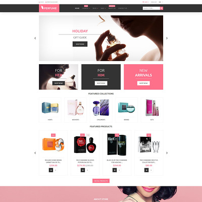 Perfumes Cosmetics Shopify Theme (parallax Shopify theme) Item Picture