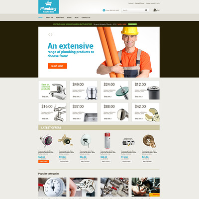 Plumbing Renovations WooCommerce Theme (WooCommerce theme for home improvement and construction supplies) Item Picture