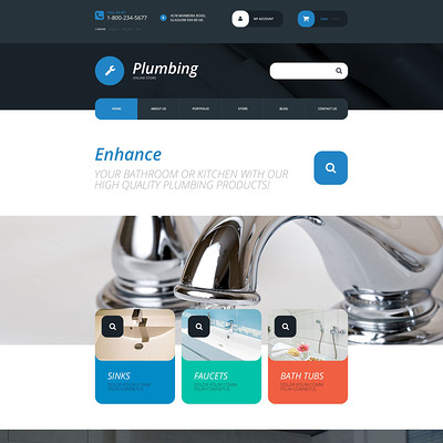Plumbing Supplies Store WooCommerce Theme (WooCommerce theme for home improvement and construction supplies) Item Picture
