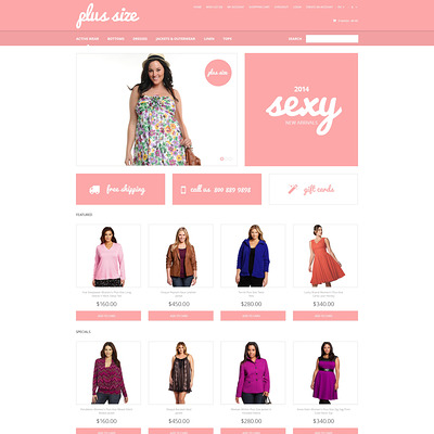 Plus Size Clothes OpenCart Template (OpenCart theme for clothing stores) Item Picture