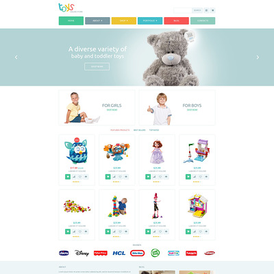 Safe Toys WooCommerce Theme (WooCommerce theme selling toys for kids) Item Picture