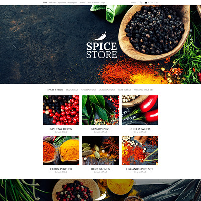 Spice Food Shop OpenCart Template (OpenCart theme for selling food and spices) Item Picture