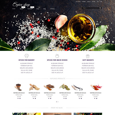 Spice House WooCommerce Theme (WooCommerce theme for selling food and spices) Item Picture