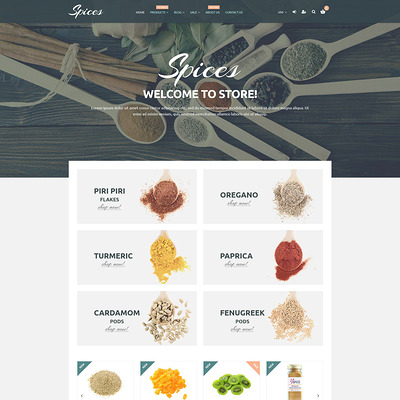 Spice Shop Responsive Shopify Theme (parallax Shopify theme) Item Picture