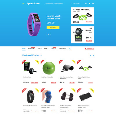 Sport Store Shopify Theme (parallax Shopify theme) Item Picture