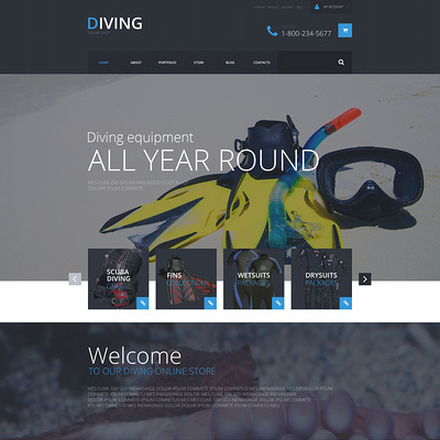 Sports Shop WooCommerce Theme (WooCommerce theme for sports, gym, and fitness stores) Item Picture