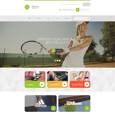Sports Store OpenCart Template (OpenCart theme for sports, gym, and fitness stores) Item Picture