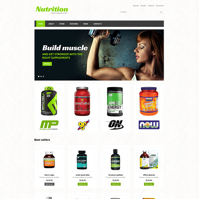 Sports Store Responsive WooCommerce Theme (WooCommerce theme for sports, gym, and fitness stores) Item Picture