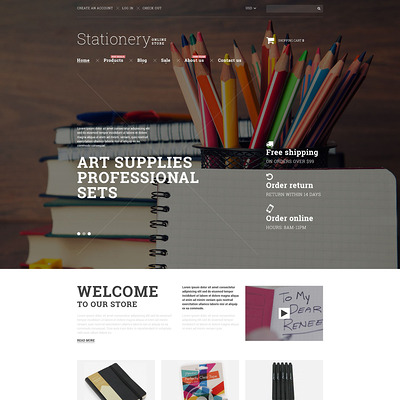 Stationery Goods Shopify Theme (parallax Shopify theme) Item Picture