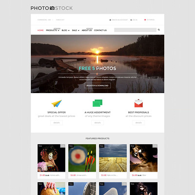 Stock Photo Responsive Shopify Theme (parallax Shopify theme) Item Picture