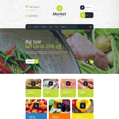 Supermarket WooCommerce Theme (WooCommerce theme for selling food and spices) Item Picture