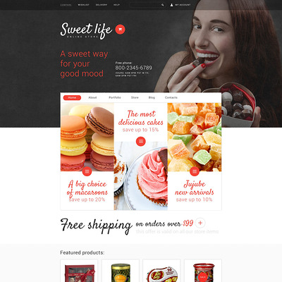 Sweet Life WooCommerce Theme (WooCommerce theme for selling food and spices) Item Picture