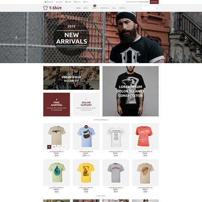 T-Shirt Shop WooCommerce Theme (WooCommerce theme for selling clothing for men and women) Item Picture