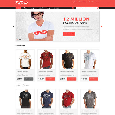TShirts That Fit WooCommerce Theme (WooCommerce theme for selling clothing for men and women) Item Picture