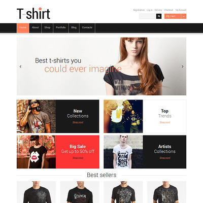TShirts with Sense WooCommerce Theme (WooCommerce theme for selling clothing for men and women) Item Picture