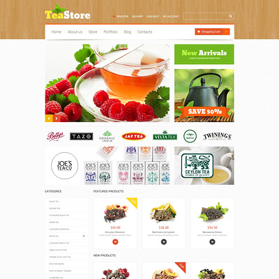 Tea Ceremony WooCommerce Theme (WooCommerce theme for selling tea and coffee) Item Picture