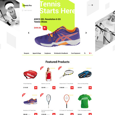 Tennis Pro OpenCart Template (OpenCart theme for sports, gym, and fitness stores) Item Picture
