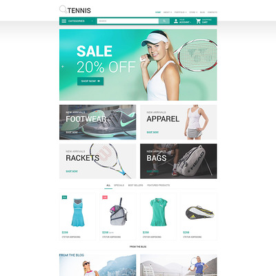 Tennis WooCommerce Theme (WooCommerce theme for sports, gym, and fitness stores) Item Picture