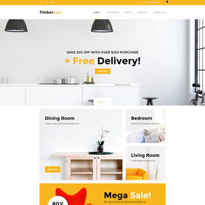 Timberline (WooCommerce theme for furniture stores) Item Picture