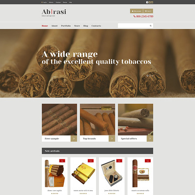 Tobacco Responsive WooCommerce Theme (WooCommerce theme for sell cigars, tobacco products, and e-cigarettes) Item Picture