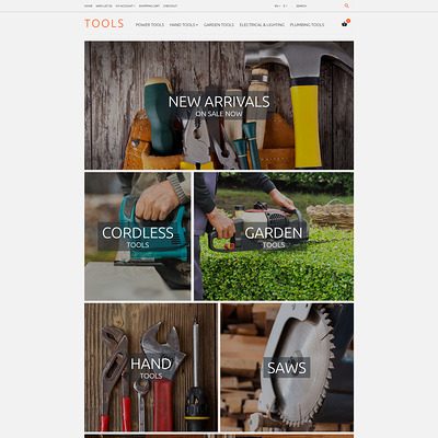 Tools OpenCart Template (OpenCart theme for selling tools) Item Picture