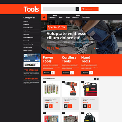 Tools & Equipment Responsive Shopify Theme (parallax Shopify theme) Item Picture